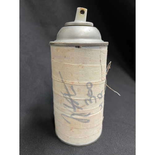Photo of Joey Votto *Game-Used, Autographed & Inscribed* On-Deck Circle Spray Can -- Used By Joey Votto During 300th Career Home Run Game -- CHC vs. CIN on 04/30/2021