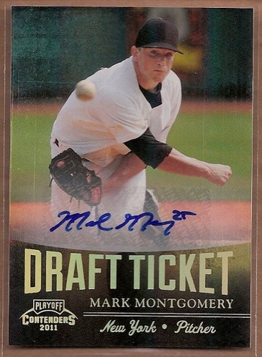 Photo of 2011 Playoff Contenders Draft Ticket Autographs #DT78 Mark Montgomery