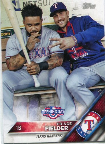 Photo of 2016 Topps Opening Day #OD75B Prince Fielder SP/w/Teammate