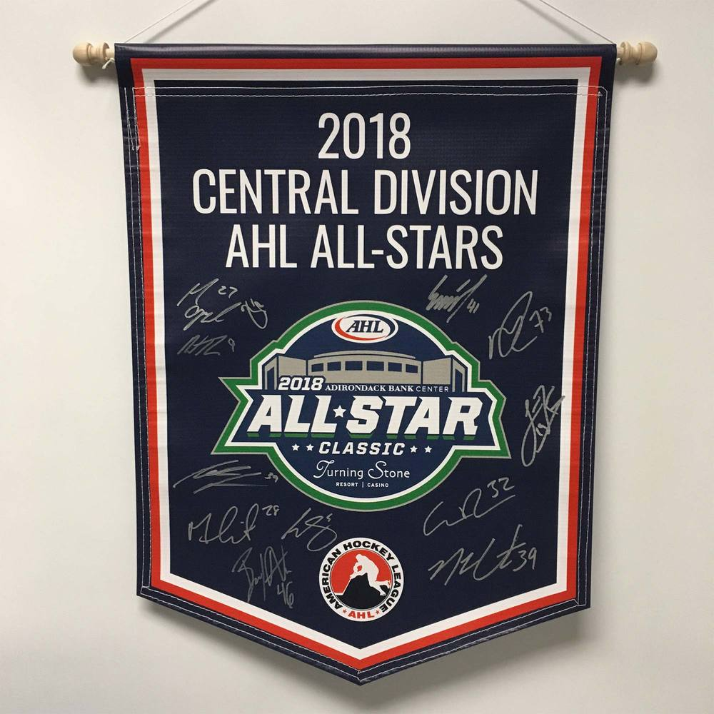 2018 Central Division AHL All-Stars Team-Signed Banner