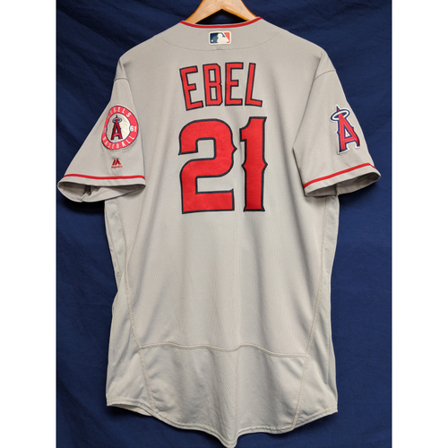 Photo of Dino Ebel Game-Used Road Jersey
