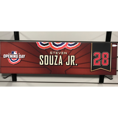 Photo of 2018 Steven Souza Jr. Opening Day Nameplate