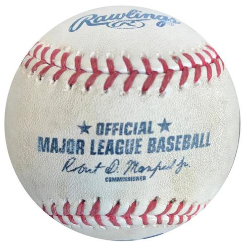 Photo of Game-Used Baseball from Pirates vs. Padres on 7/7/15 - Melvin Upton Jr. Single