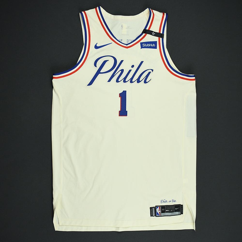 Justin Anderson - Philadelphia 76ers - 2018 NBA Playoffs Game-Worn City Jersey