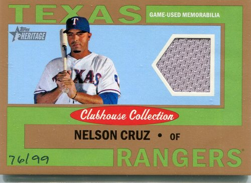 Photo of 2013 Topps Heritage Clubhouse Collection Relics Gold Nelson Cruz