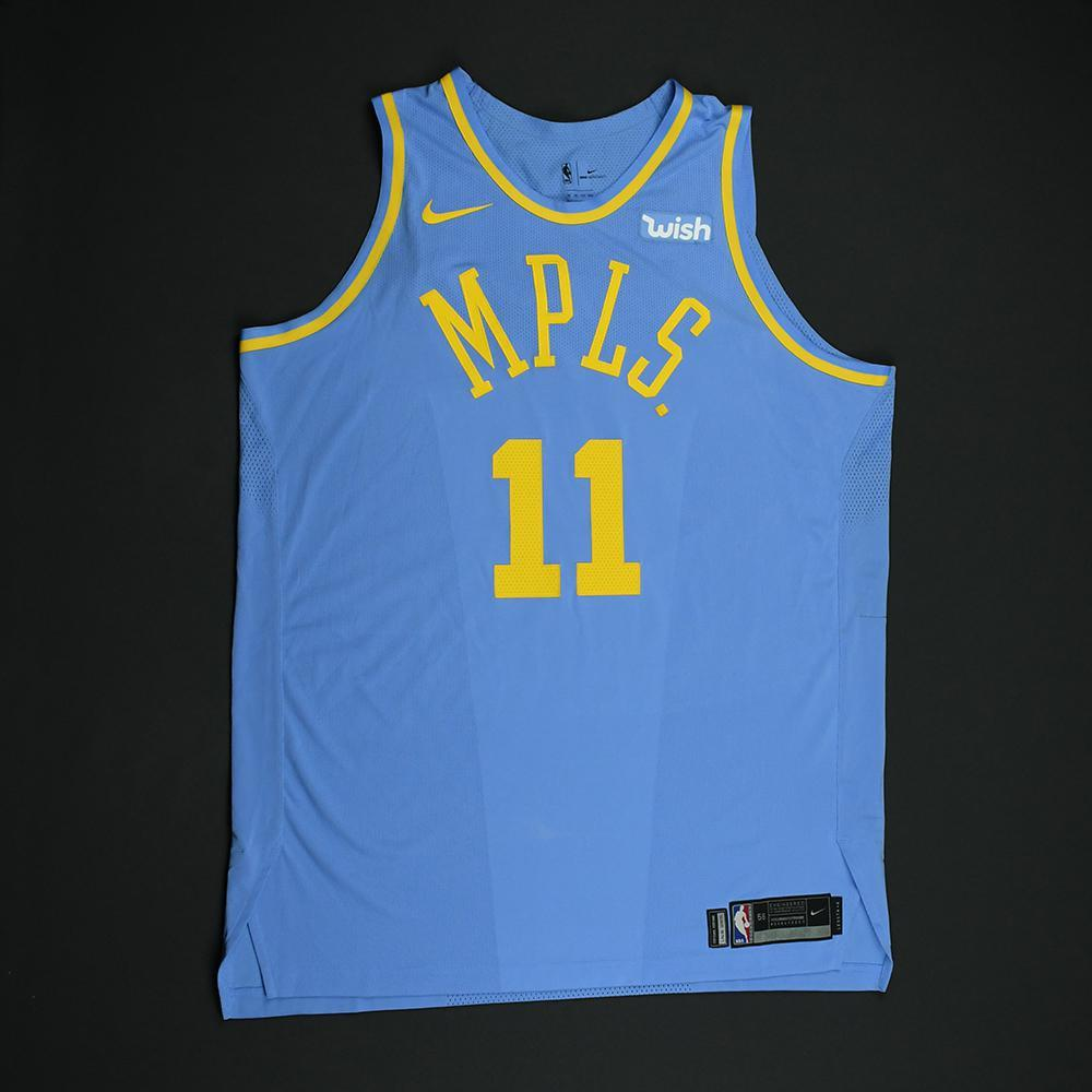 Brook Lopez - Los Angeles Lakers - Game-Issued Classic Edition Minneapolis Lakers 1948-52 Road Jersey - 2017-18 Season