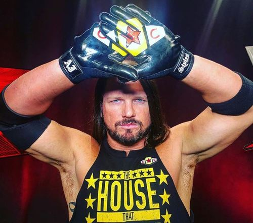 Photo of AJ Styles WORN & SIGNED Gloves (Connor's Cure: Hell in a Cell - 09/16/18)