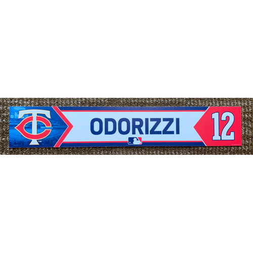 Photo of 2018 Game-Used Jake Odorizzi Minnesota Twins Lockertag