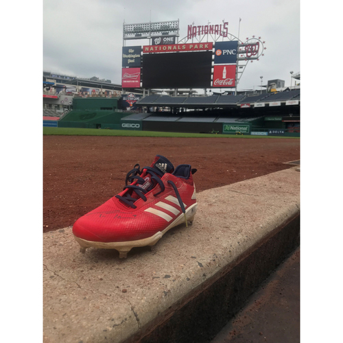Photo of Autographed Trea Turner Left Cleat  - Pair 2