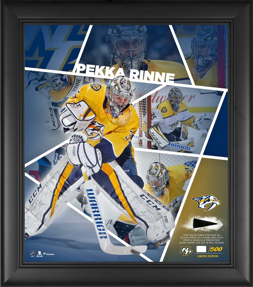 Pekka Rinne Nashville Predators Framed 15'' x 17'' Impact Player Collage with a Piece of Game-Used Puck - Limited Edition 35 of 500