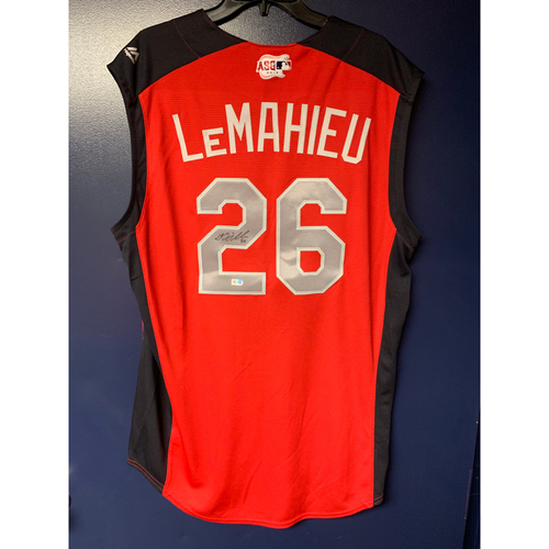 Photo of DJ LeMahieu 2019 Major League Baseball Workout Day Autographed Jersey