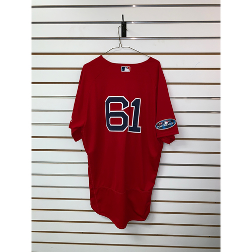 Photo of Brian Johnson Game Used September 28, 2018 Home Alternate Jersey