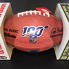 Panthers - D.J. Moore Signed Authentic Football with 100 Seasons and Panthers Logo