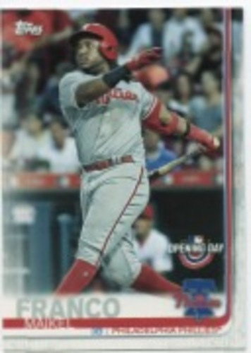 Photo of 2019 Topps Opening Day #184 Maikel Franco
