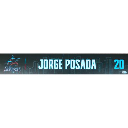 Photo of Game-Used Locker Tag: Jorge Posada