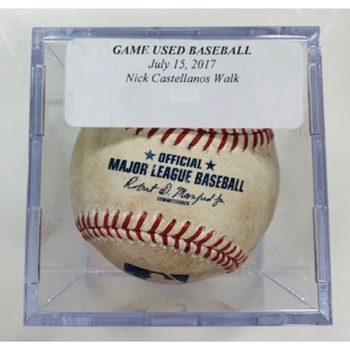 Photo of Game-Used Baseball: Nicholas Castellanos Walk