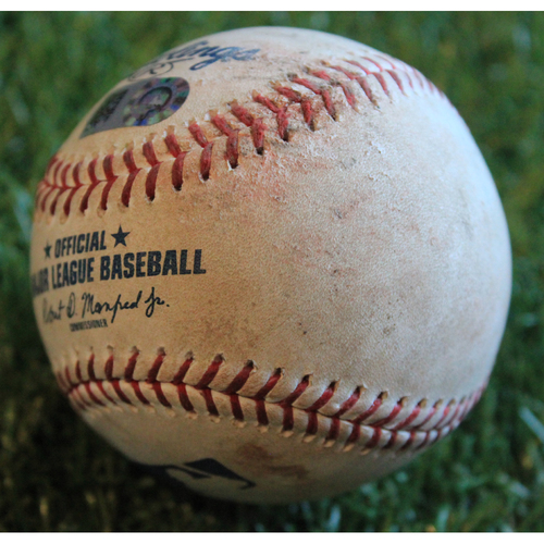 Photo of Game-Used Baseball: Greg Allen 101st Career Hit (7/28/19 - CLE @ KC)