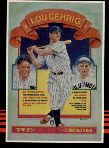 Photo of 1985 Leaf/Donruss #635 Lou Gehrig/Puzzle Card