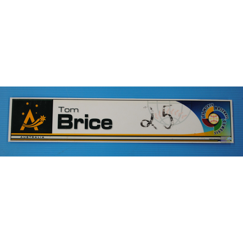 Photo of 2006 Inaugural World Baseball Classic: Tom Brice Locker Tag - AUS