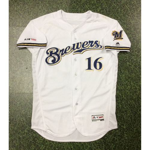 Photo of Ben Gamel 2019 Game-Used Home White Jersey