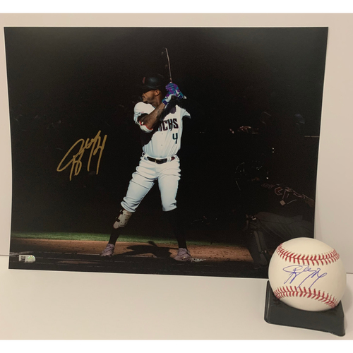 Photo of Ketel Marte Autographed 11x14 and Ball