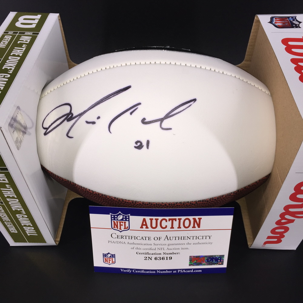 Jets - Morris Claiborne Signed Panel Ball W/ Jets and Super Bowl Logos