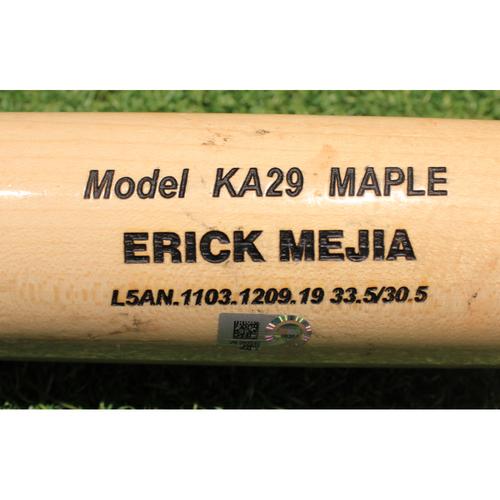 Photo of Team-Issued Broken Bat: Erick Mejia #26
