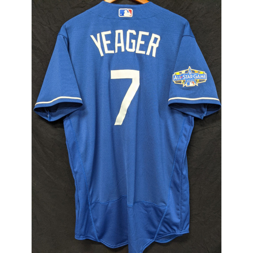 Photo of Steve Yeager Team-Issued 2020 Spring Training Jersey with 2020 All Star Patch