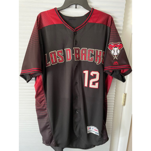 Photo of Jerry Narron 2019 Team-Issued Los D-backs Jersey (Size 48T)