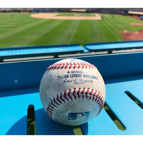 Photo of 2021 Oakland Athletics Game-Used Baseball (April) - PRESALE: Choose your Game Date!
