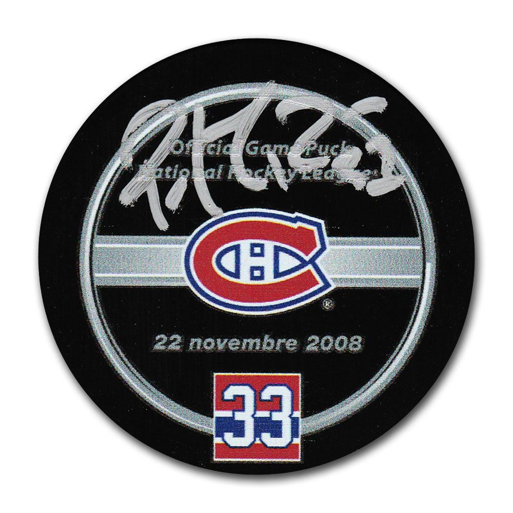 Patrick Roy Autographed Montreal Canadiens Retirement Night Official Game Puck