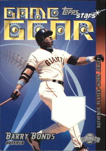 Photo of 2001 Topps Stars Game Gear Jerseys #TSRBB Barry Bonds B