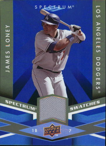 Photo of 2009 Upper Deck Spectrum Spectrum Swatches Blue #SSJL James Loney