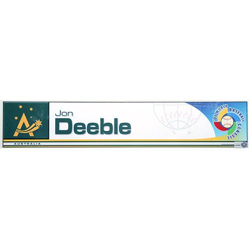 Photo of 2006 Inaugural World Baseball Classic: Jon Deeble Locker Tag (AUS) Game-Used Locker Name Plate