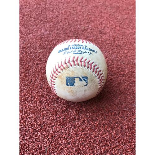 Game-Used Baseball - Welington Castillo Hit by Pitch vs. Robert Whalen