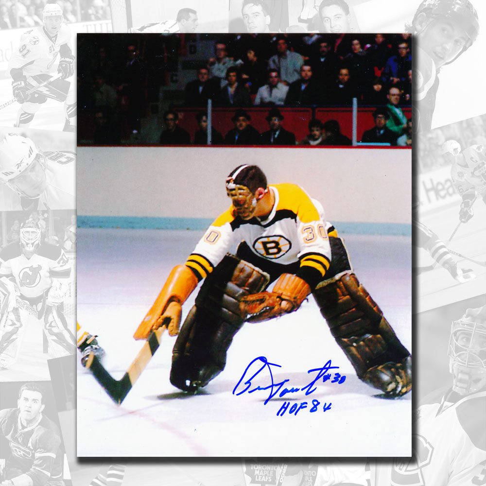 Bernie Parent Boston Bruins HOF Rookie Autographed 8x10