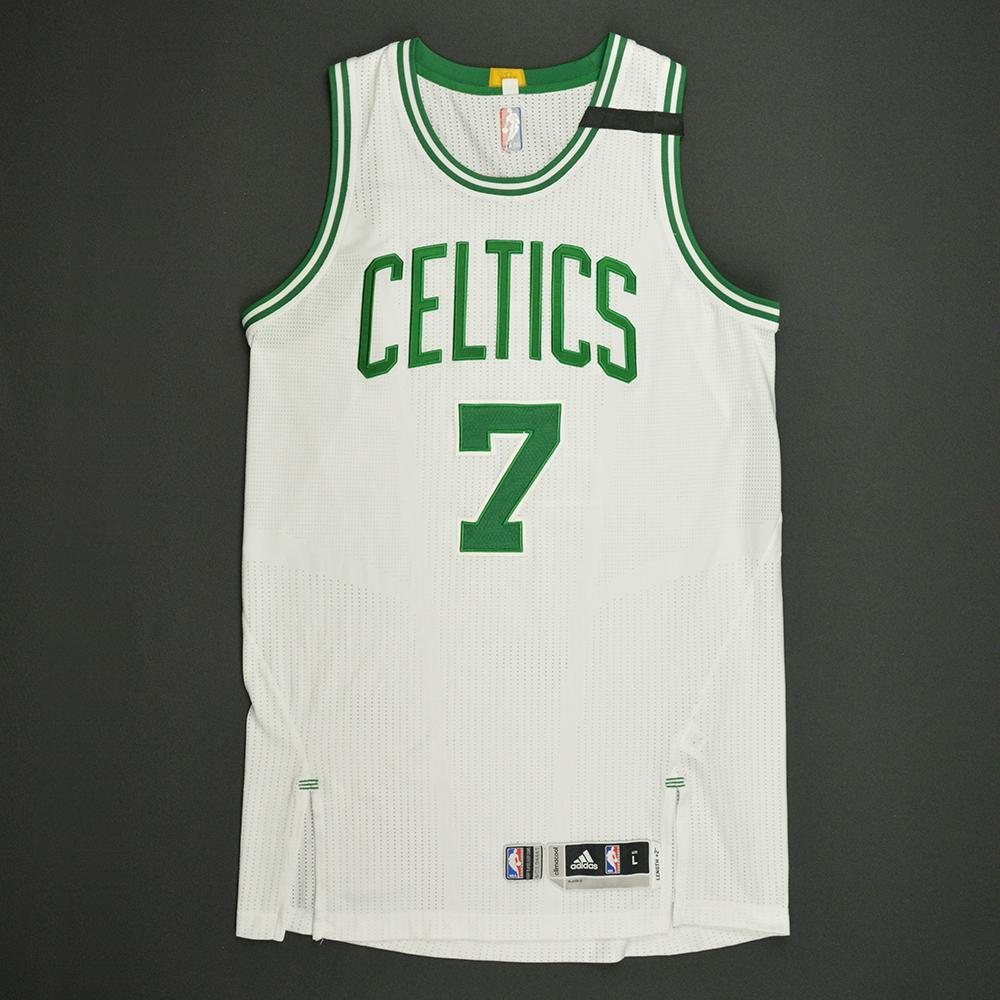 lowest price c0af4 da694 Jaylen Brown - Boston Celtics - White Playoffs Game-Worn ...