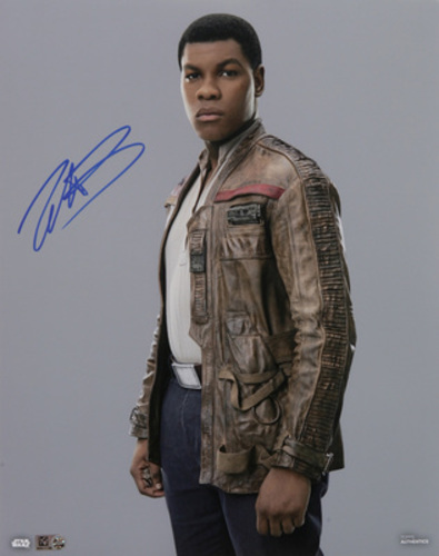 John Boyega as Finn 8x10 Autographed in Blue Ink Photo