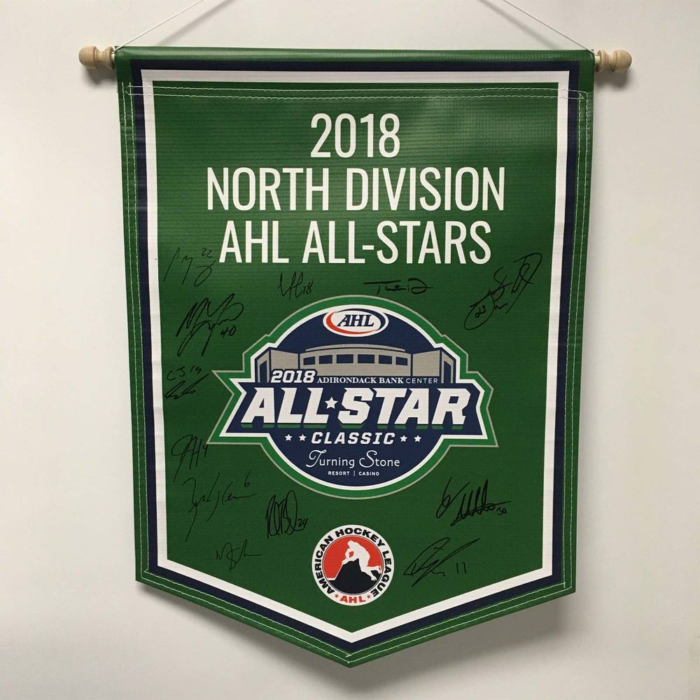 2018 North Division AHL All-Stars Team-Signed Banner