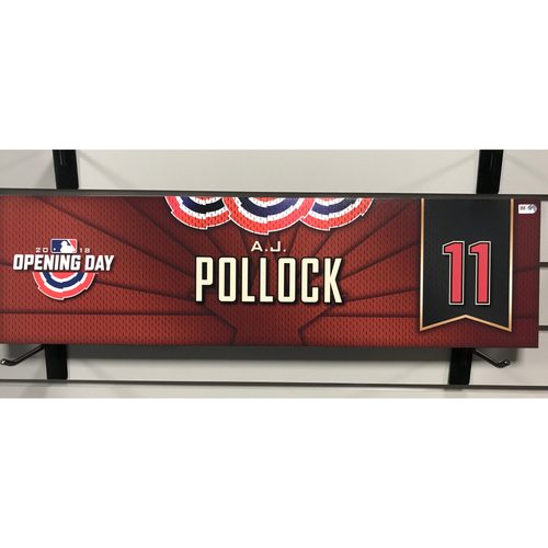 Photo of 2018 A.J. Pollock Opening Day Nameplate