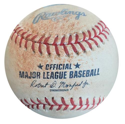 Photo of Game-Used Baseball from Pirates vs. Cardinals on 7/12/15 - Peter Bourjos Single