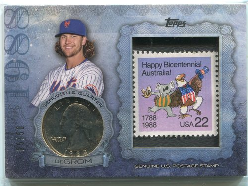 Photo of 2015 Topps Birth Year Coin and Stamps Quarter Jacob deGrom 05/50