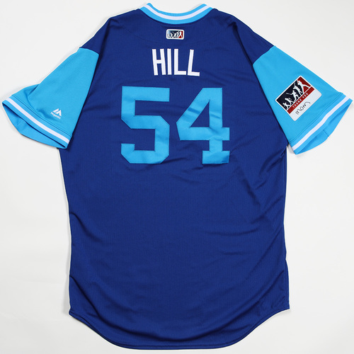 "Photo of Tim ""Hill"" Hill Kansas City Royals Game-Used Jersey 2018 Players' Weekend Jersey"