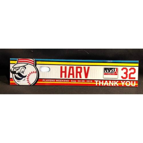 "Photo of Matt Harvey ""HARV"" 2018 Players' Weekend Locker Tag - Team Issued"