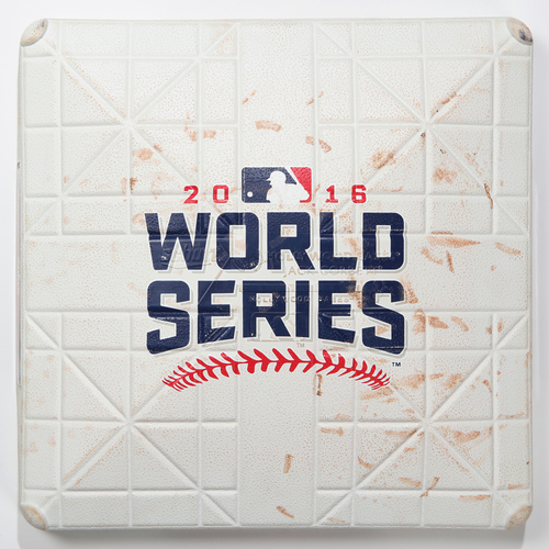 Photo of Game-Used Base: 2016 World Series Game 7 - Chicago Cubs at Cleveland Indians - 3rd Base used in Innings 1-2