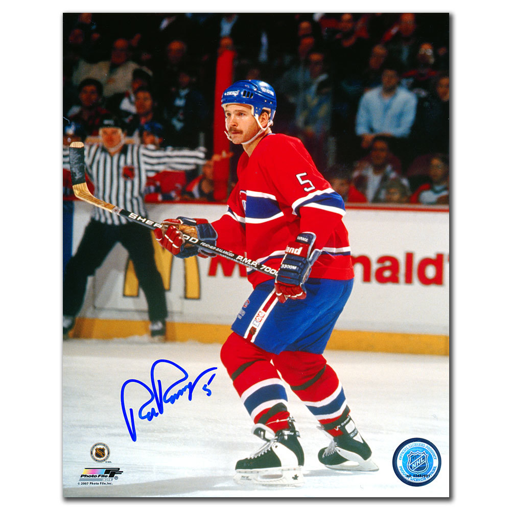 Rob Ramage Montreal Canadiens Autographed 8x10