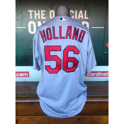 Cardinals Authentics: Game Worn Greg Holland Road Grey Jersey