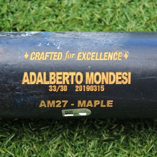 Photo of Game-Used Broken Bat: Adalberto Mondesi 128th Career Hit (4/14/19 - CLE @ KC)