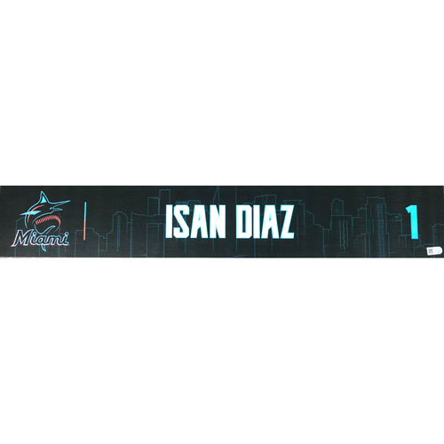 Game-Used Locker Tag: Isan Diaz