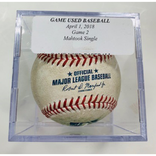 Photo of Game-Used Baseball: Mikie Mahtook Single